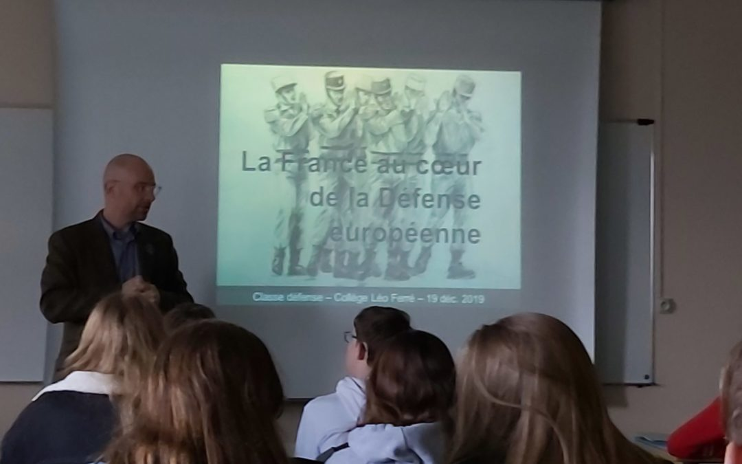 Conférence «La France au cœur de la défense européenne» pour la CDGS