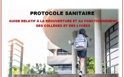 Protocole sanitaire et protocole d'accueil