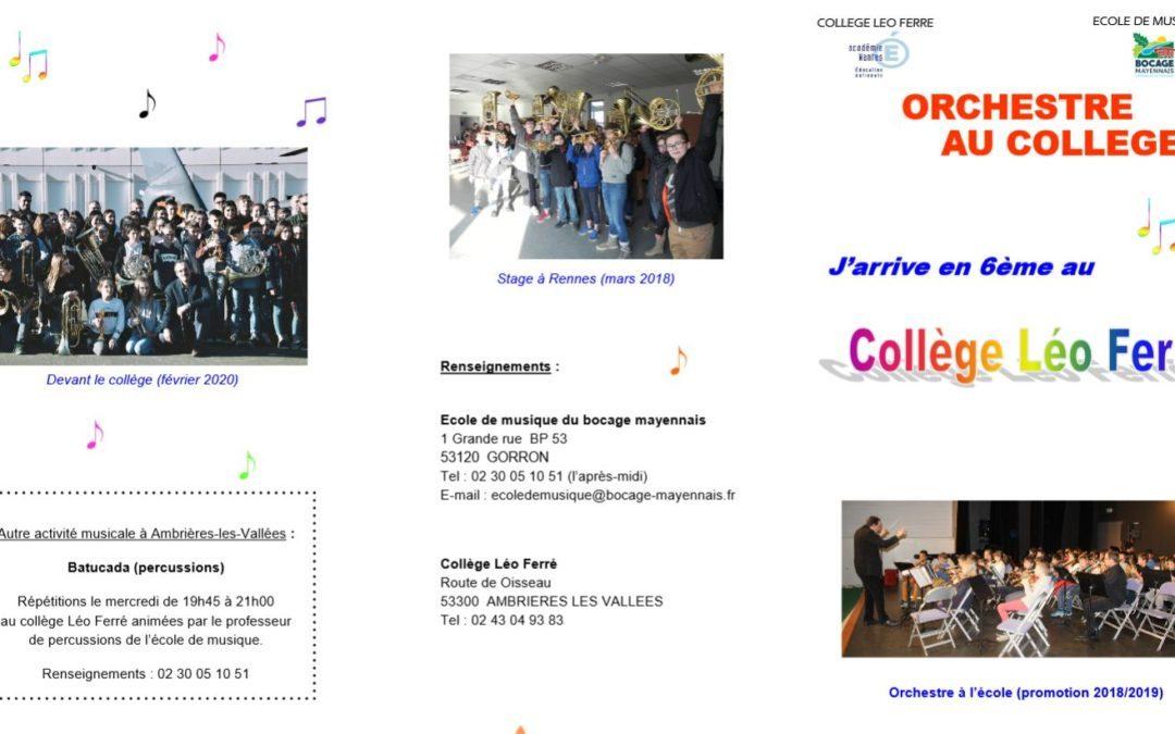 Plaquette Orchestre à l'école