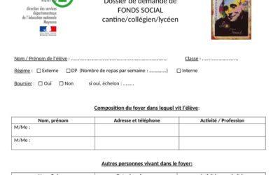Dossier de demande de fonds social Léo Ferré
