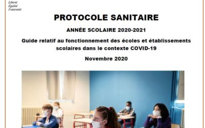 Nouveau protocole sanitaire Novembre 2020